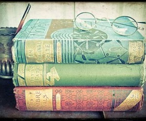 books, colours, and glasses image
