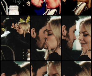 once upon a time, true love kiss, and captain swan image