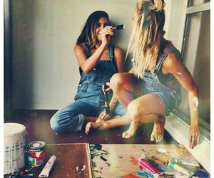 alive, fun, and overalls image