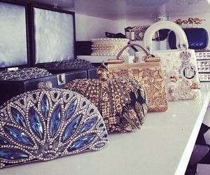 bag, fashion, and diamond image