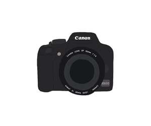 canon, camera, and overlay image