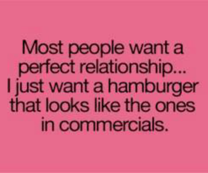 hamburger, quote, and Relationship image