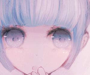 anime, kawaii, and eyes image