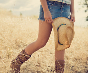 country, boots, and Cowgirl image