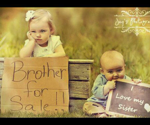 brother, sister, and sweet image