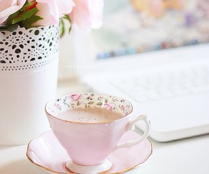 morning, pink, and pretty image