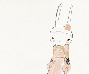 bunny, pink, and dress image