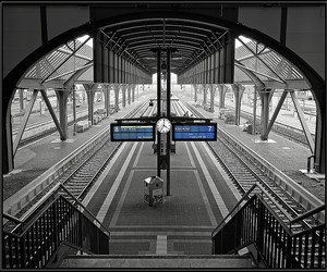 black and white, Darmstadt, and germany image