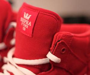 supra, red, and shoes image