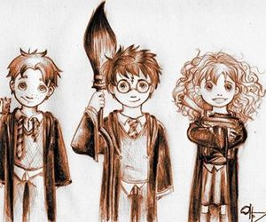 draw, drawing, and harry potter image