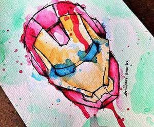 drawing and iron man image