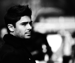 black and white, handsome, and zac efron image