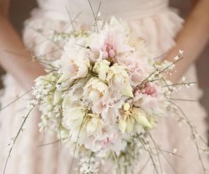flowers, bouquet, and bridal image