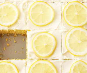 lemon, food, and cake image