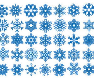 snow, snowflakes, and flakes image