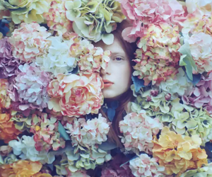 art, flowers, and face image
