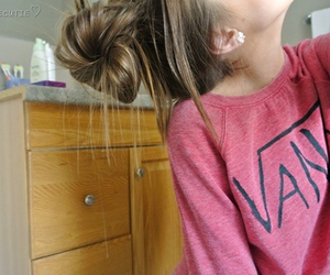vans, hair, and pink image