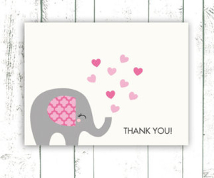 card, elephant, and greeting cards image