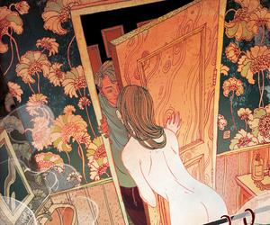 art, draw, and bathroom image