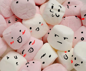 marshmallow, food, and face image