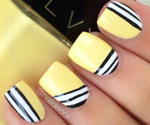 nails, fashion, and yellow image