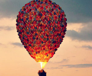 ballons, beautiful, and up image