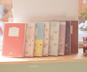 book, pink, and notebook image