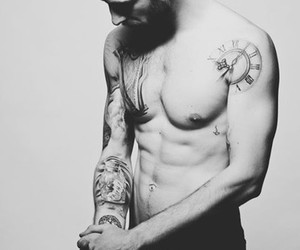 <3, Tattoos, and men image