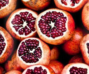 food, pomegranate, and pomegranates image