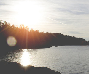sun, nature, and water image