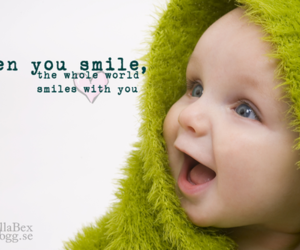 baby, smile, and text image