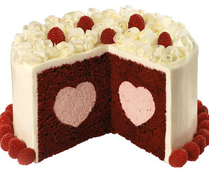cake, heart, and delicious image