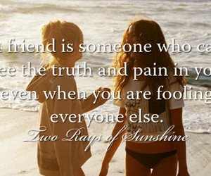 best friends, girl, and quote image
