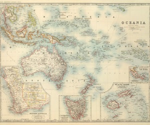 old map of oceania image