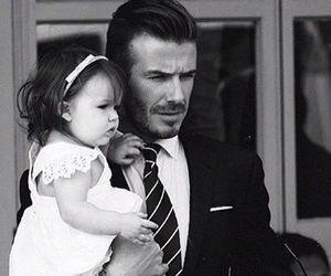 David Beckham, dad, and baby image
