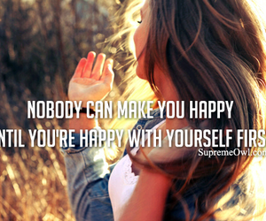 quote, happy, and yourself image