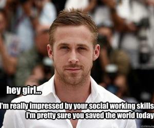 ryan gosling and hey girl image