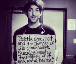 all time low, suicide, and alex gaskarth image