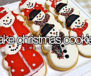 christmas, Cookies, and bucket list image