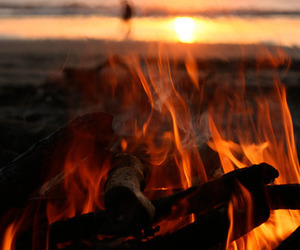 fire, beach, and photography image