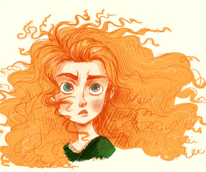 brave, celtic, and curly hair image