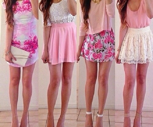fashion, pink, and dress image