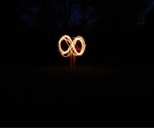 infinity, photography, and light graffiti image