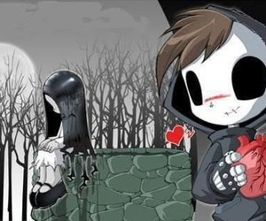 emo, love, and heart image