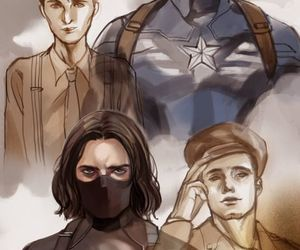 Marvel, captain america, and winter soldier image