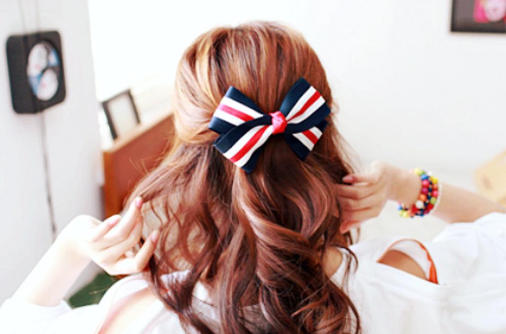 hair, ribbons, and style image
