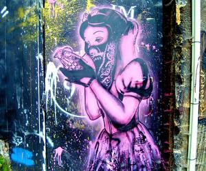 snow white, graffiti, and art image