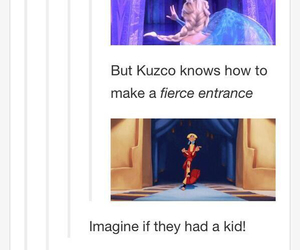 elsa, funny, and kuzco image