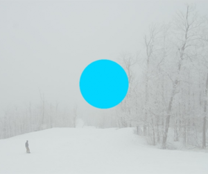 circle, cyan, and landscape image