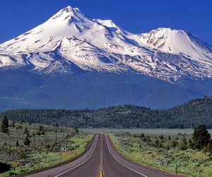 mountains, photography, and road image